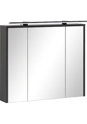 Schildmeyer Spiegelschrank, Breite 83,5 cm, 3-türig, LED-Beleuchtung, Steckdosenbox,... kaufen
