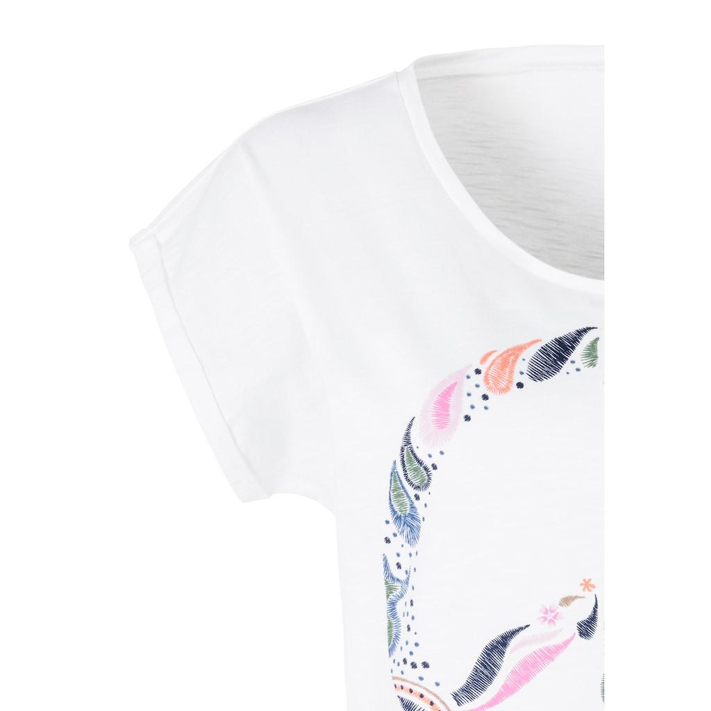 Beachtime T-Shirt, mit modischem Frontdruck