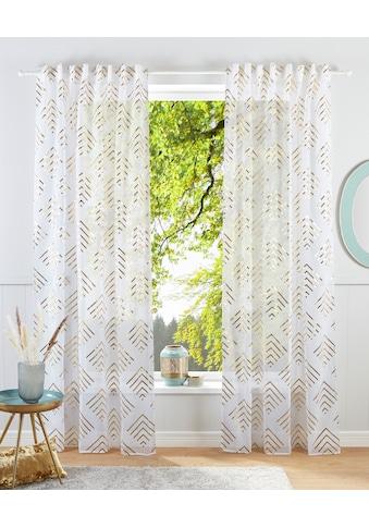 Guido Maria Kretschmer Home&Living Gardine »Gino«, transparent, mit Foliendruck... kaufen