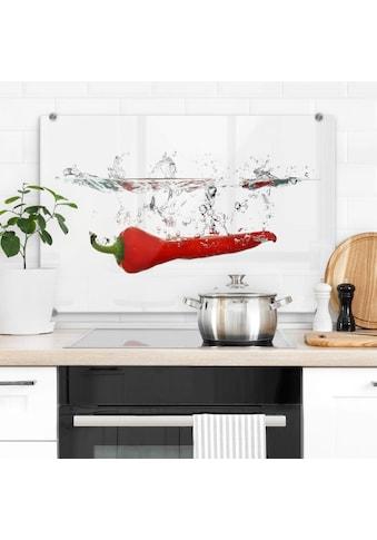 Wall-Art Herd-Abdeckplatte »Spritzschutz Küche Chilischote« kaufen