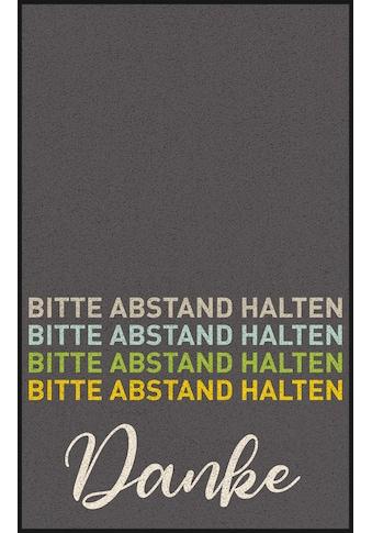wash+dry by Kleen-Tex Teppich »Abstand halten«, rechteckig, 7 mm Höhe, waschbar,... kaufen