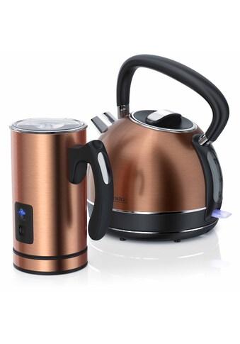 Arendo Frühstücks - Set 2 - teilig im Kupfer Design »Milchaufschäumer und Edelstahl Wasserkocher« kaufen