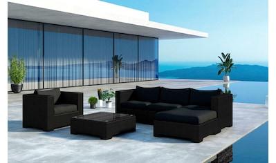 BAIDANI Loungeset »Daydreamer schwarz«, 25 - tlg., Ecksofa, Tisch 54x72 cm, Alu/Polyester kaufen