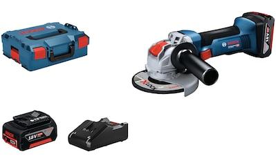 Bosch Professional Akku-Winkelschleifer »GWX 18V-8 (2x 5.0Ah, GAL 18V-40, L)«, mit 2... kaufen