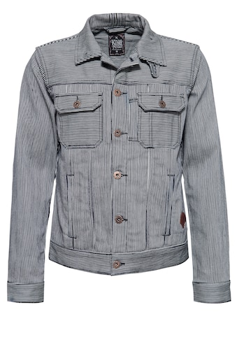 KingKerosin Jeansjacke »Speedshop SoCal«, in Streifen-Optik mit Stickerei kaufen