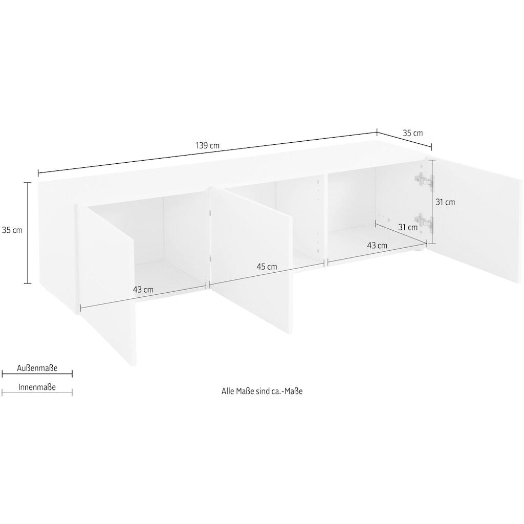 borchardt Möbel Lowboard »Sophia«, Breite 139 cm mit 3 Türen, stehend und hängend