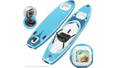 Sportstech Inflatable SUP-Board »WBX_AQUEMINI«, (Set, 9 tlg., mit Paddel, Pumpe,... kaufen