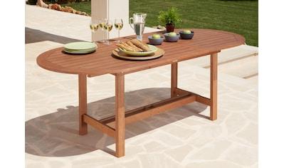 MERXX Gartentisch »Maracaibo«, Eukalyptusholz, ausziehbar, 210x90 cm, braun kaufen