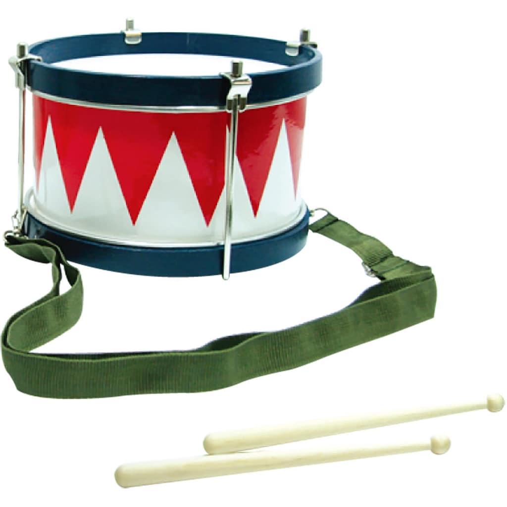Clifton Spielzeug-Musikinstrument »Kindertrommel blau/weiß/rot«, mit Kinderlieder CD