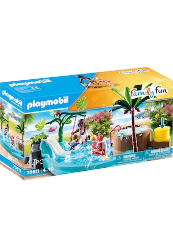 Playmobil® Konstruktions-Spielset »Kinderbecken mit Whirlpool (70611), Family Fun«,... kaufen