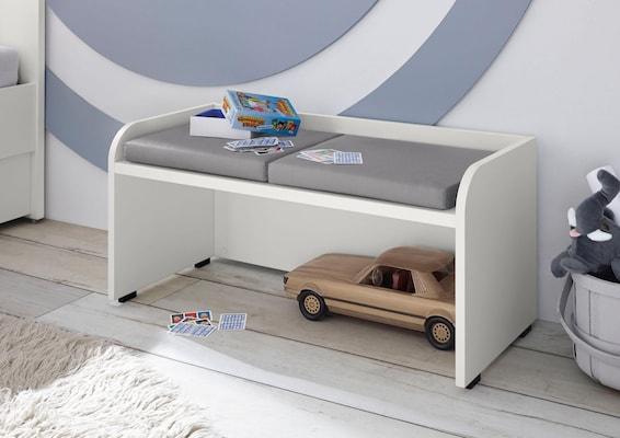 Holzbank in Weiß für das Kinderzimmer