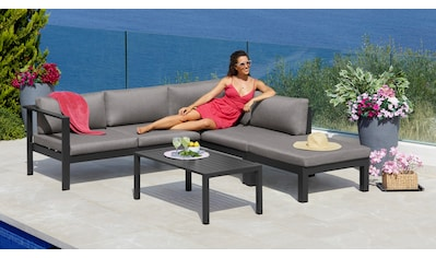 KONIFERA Loungeset »Dubai«, 14 - tlg., Ecklounge, Tisch 100x59 cm, Aluminium kaufen