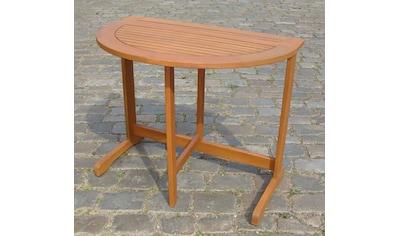 MERXX Gartentisch , Eukalyptus, klappbar, 60x90 cm, braun kaufen