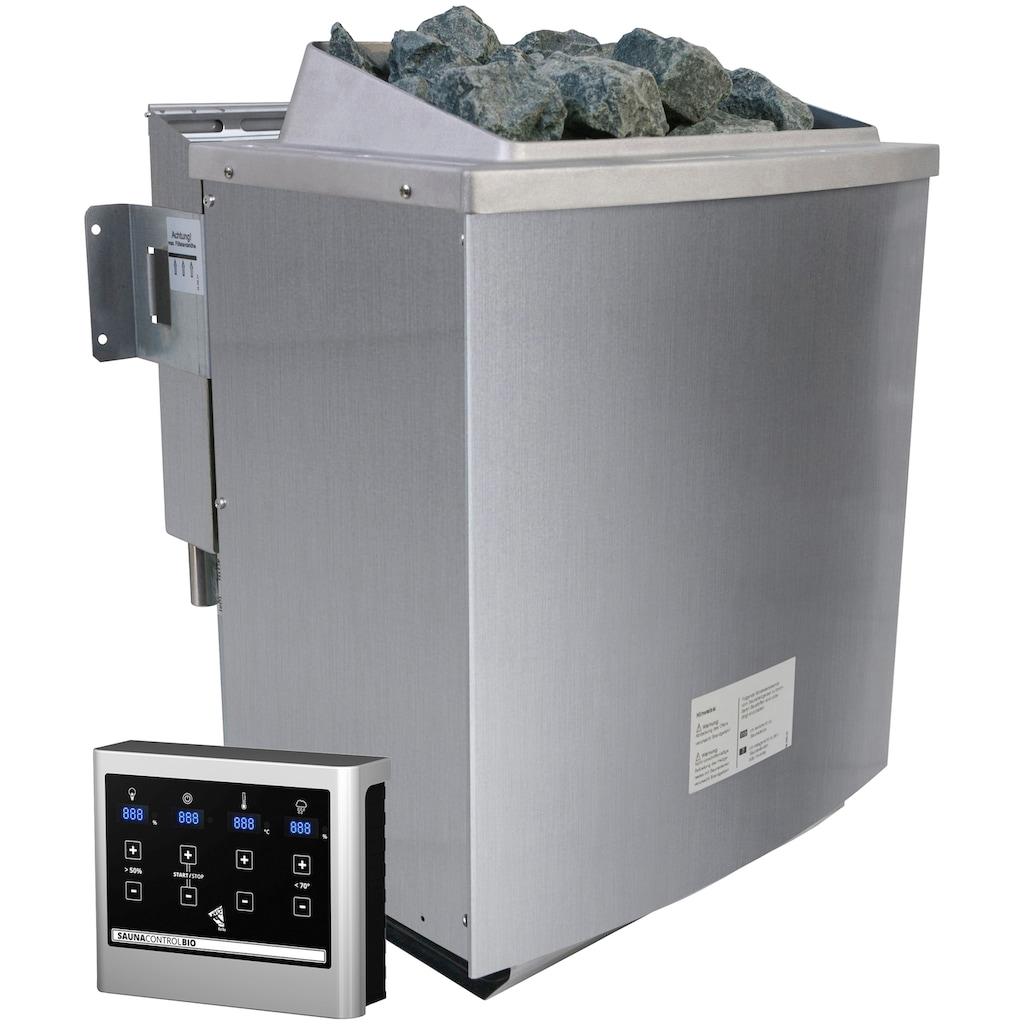 Karibu Saunahaus »Wim«, 9-kW-Bio-Ofen mit ext. Steuerung