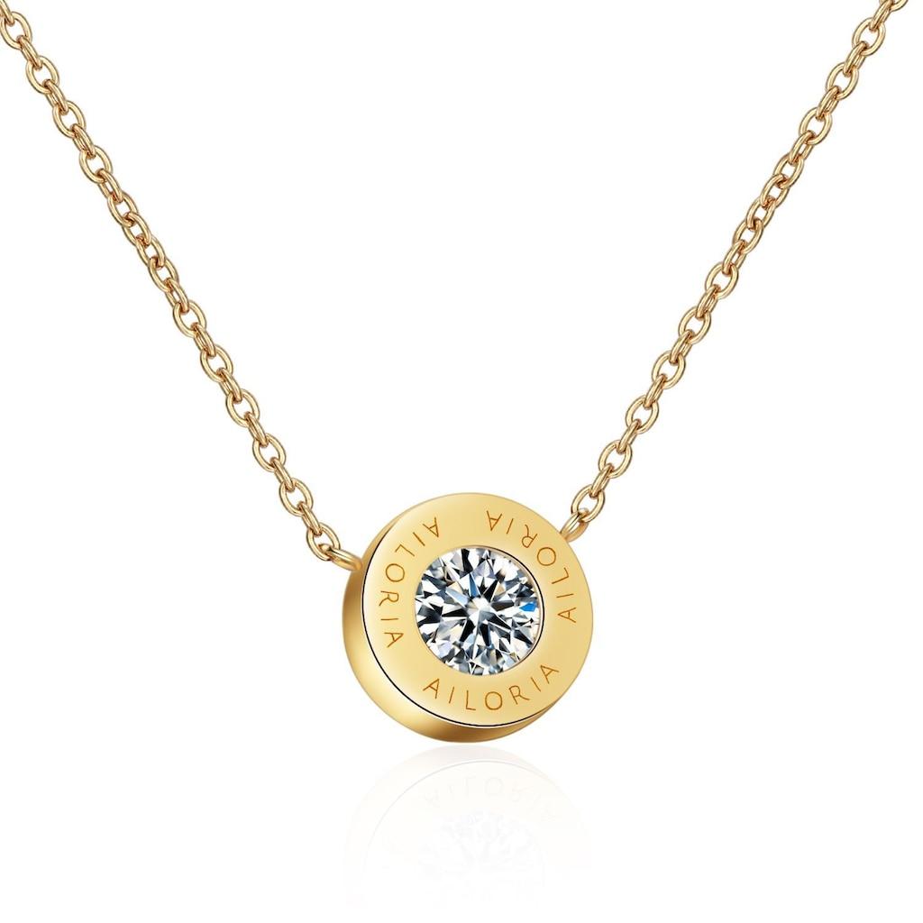 AILORIA Kette mit Anhänger »AGNÈS Halskette Gold«, Hochglanz-Finish