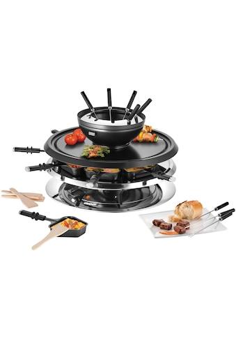 Unold Raclette und Fondue - Set Multi 4 in 1  -  48726, 8 Raclettepfännchen, 1300 Watt kaufen
