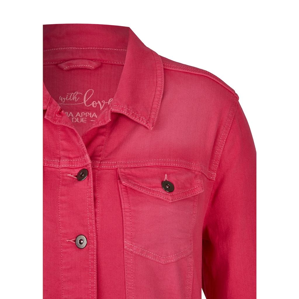 VIA APPIA DUE Modische Jeansjacke mit Knöpfen Plus Size