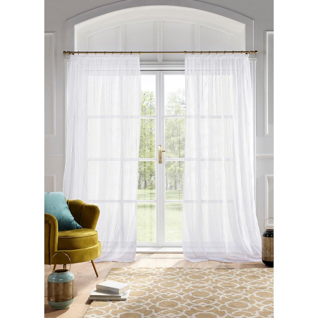 Guido Maria Kretschmer Home&Living Gardine »Mila«, transparent, Wellenmuster, Voile, monochrom democratichome Edition