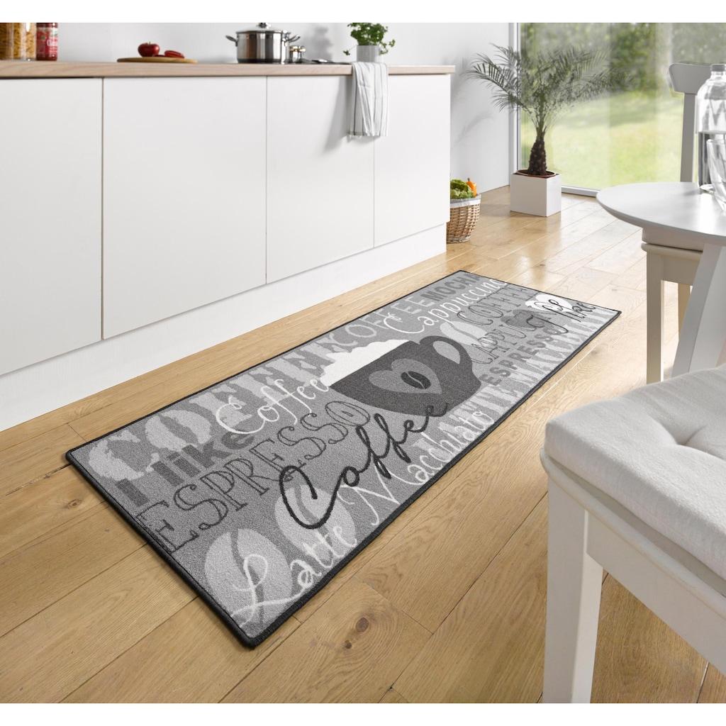 HANSE Home Küchenläufer »Coffee Cup«, rechteckig, 8 mm Höhe, mit Schriftzug