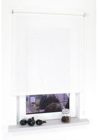 Liedeco Seitenzugrollo »Dekor Struktur«, Lichtschutz, ohne Bohren kaufen