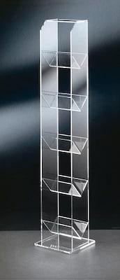 modernes CD-Standregal aus Glas