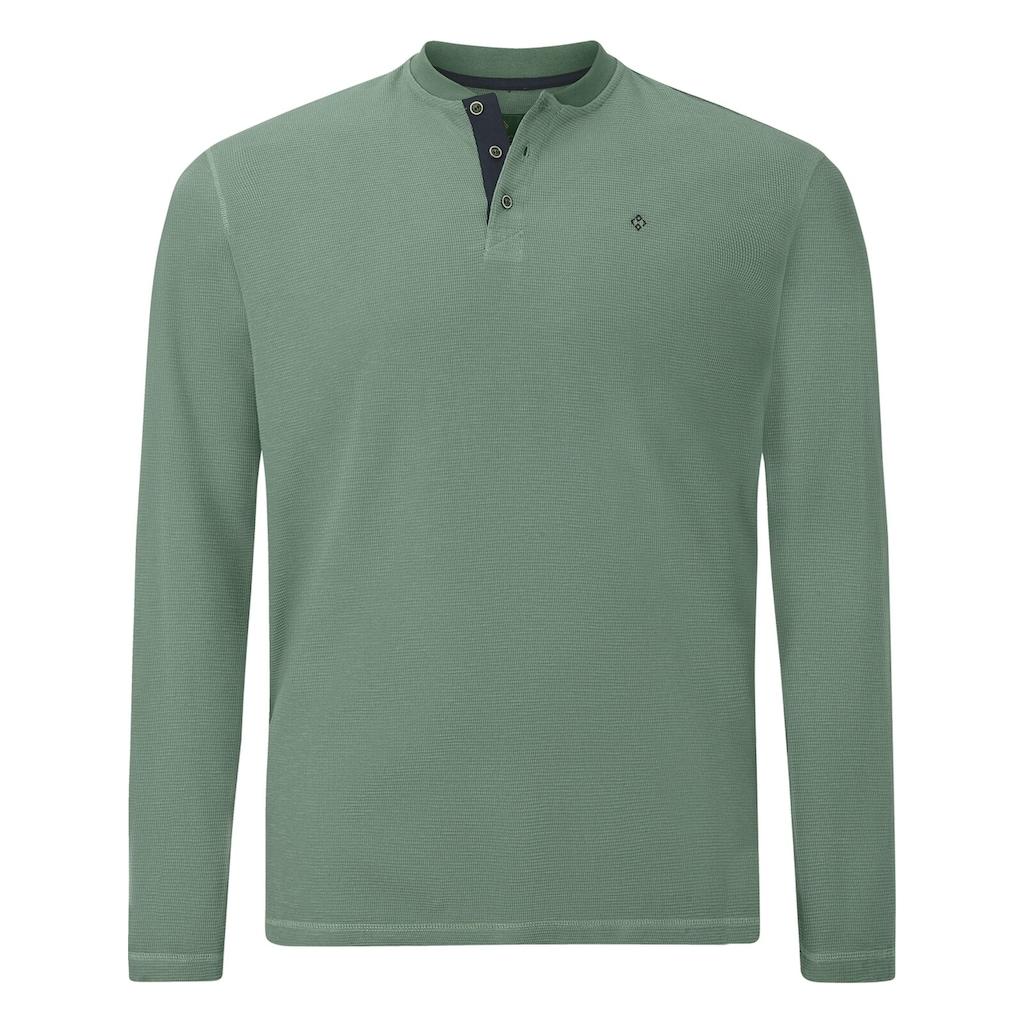 Charles Colby Sweatshirt »EARL DELVIN«, mit verzierter Knopfleiste