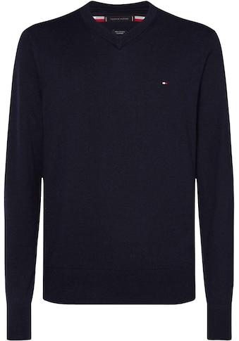 TOMMY HILFIGER V-Ausschnitt-Pullover »PIMA COTTON CASHMERE V NECK« kaufen