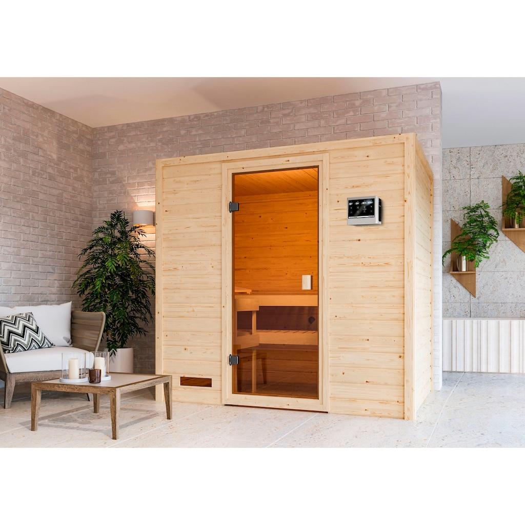 Karibu Sauna »Sunie«, 3,6-kW-Bio-Plug & Play Ofen mit ext. Steuerung