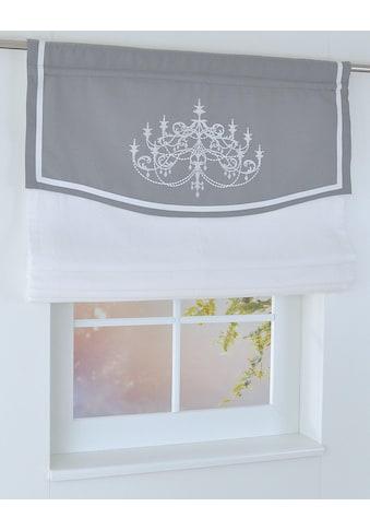 Kutti Raffrollo »Versailles«, mit Stangendurchzug, freihängend, mit Stangendurchzug kaufen