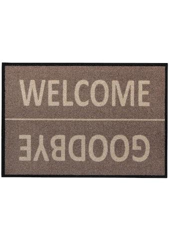 Andiamo Fußmatte »Diavolo«, rechteckig, 5 mm Höhe, Schmutzfangmatte, mit Spruch, In-... kaufen