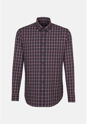 seidensticker Businesshemd »Shaped«, Shaped Langarm Button-Down-Kragen Karo kaufen