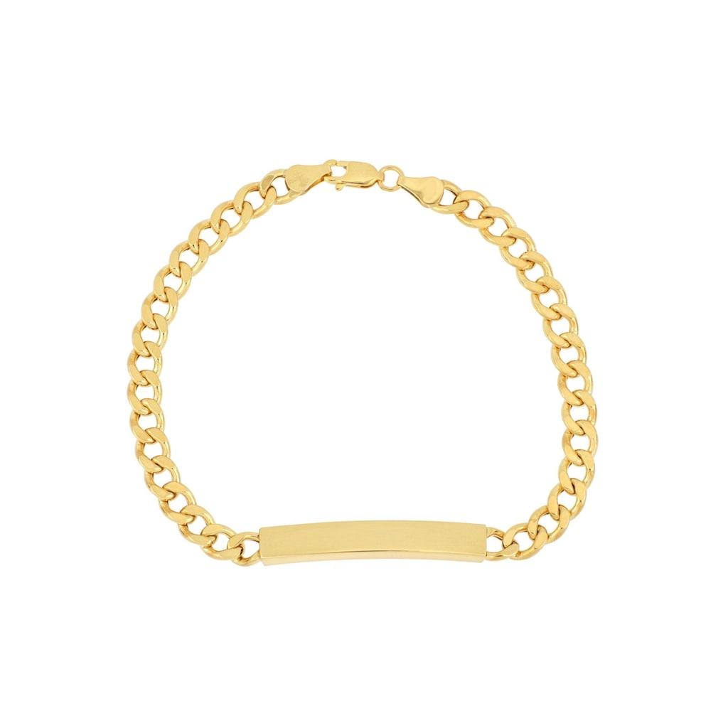 Firetti ID Armband »Gravurplatte, 2-fach diamantiert, poliert, mit Gratisgravur«
