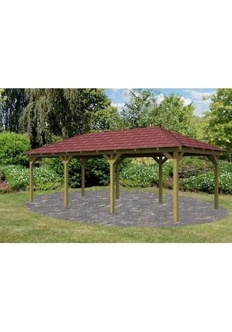 Karibu Holzpavillon »Mailand 2«, (Set), BxT: 345x696 cm, inkl. Dachschindeln und... kaufen