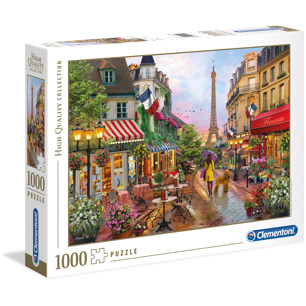Clementoni® Puzzle »High Quality Collection - Blumen in Paris«, Made in Europe