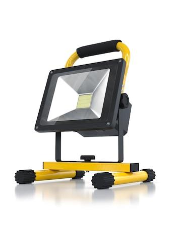 Brandson Akku LED Baustrahler 20W für Innen & Außen »Baulampe mit Standgestell &... kaufen