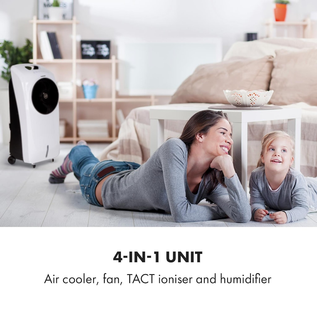 Klarstein Rotator Luftkühler 110W 8h-Timer Fernbedienung