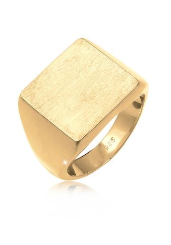 Elli Siegelring »Siegelring Royal Matt Geo Quadrat Trend 925 Silber« kaufen
