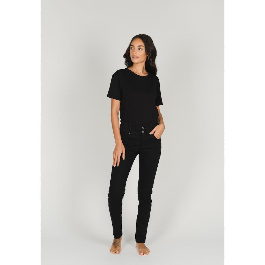 ANGELS Skinny-fit-Jeans, mit Doppelknopf-Verschluss