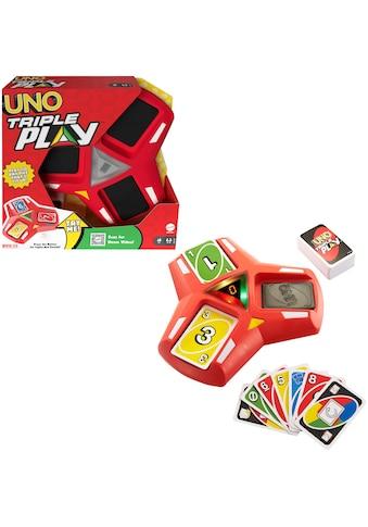 Mattel games Spiel »UNO Triple Play«, mit Licht- und Soundeffekten kaufen
