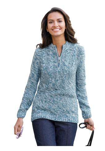 Classic Basics Pullover mit Zopfmuster im Vorderteil kaufen