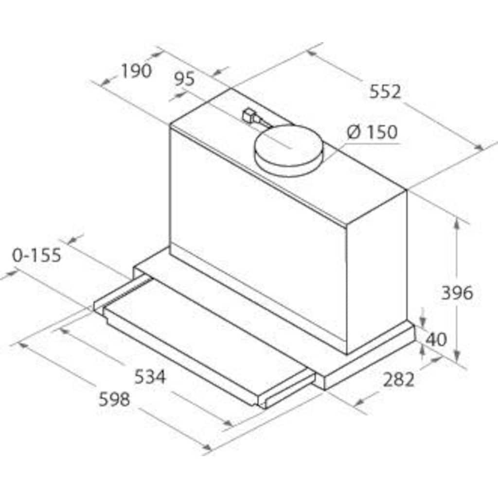 BAUKNECHT Flachschirmhaube »DBAH 65 LM X«