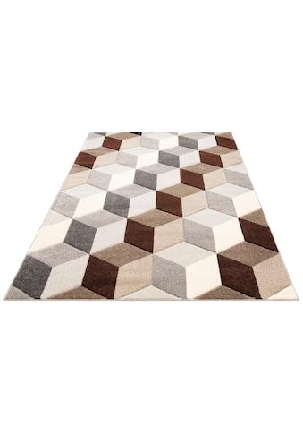 my home Teppich »Alba«, rechteckig, 14 mm Höhe, Konturenschnitt, Wohnzimmer kaufen
