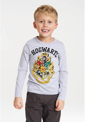 LOGOSHIRT Langarmshirt »Hogwarts«, mit detailliertem Print kaufen