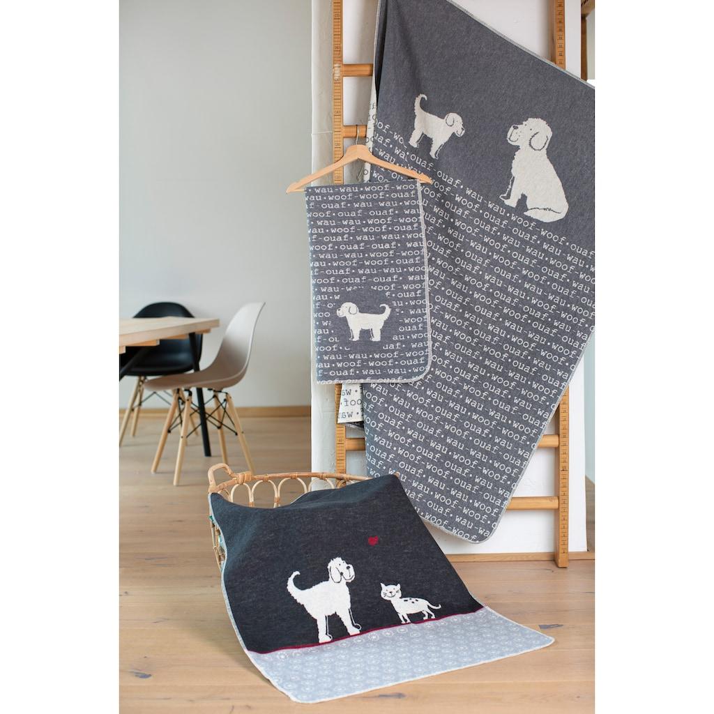 """DAVID FUSSENEGGER Tierdecke, Hund & Katz, kuschelige Tierdecke wendbar """"Hund&Katz"""" - Made in Austria"""
