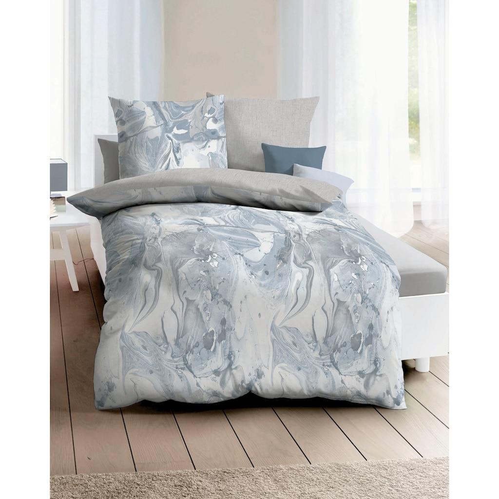 Kaeppel Wendebettwäsche »Carrara«, mit Aquarell-Print