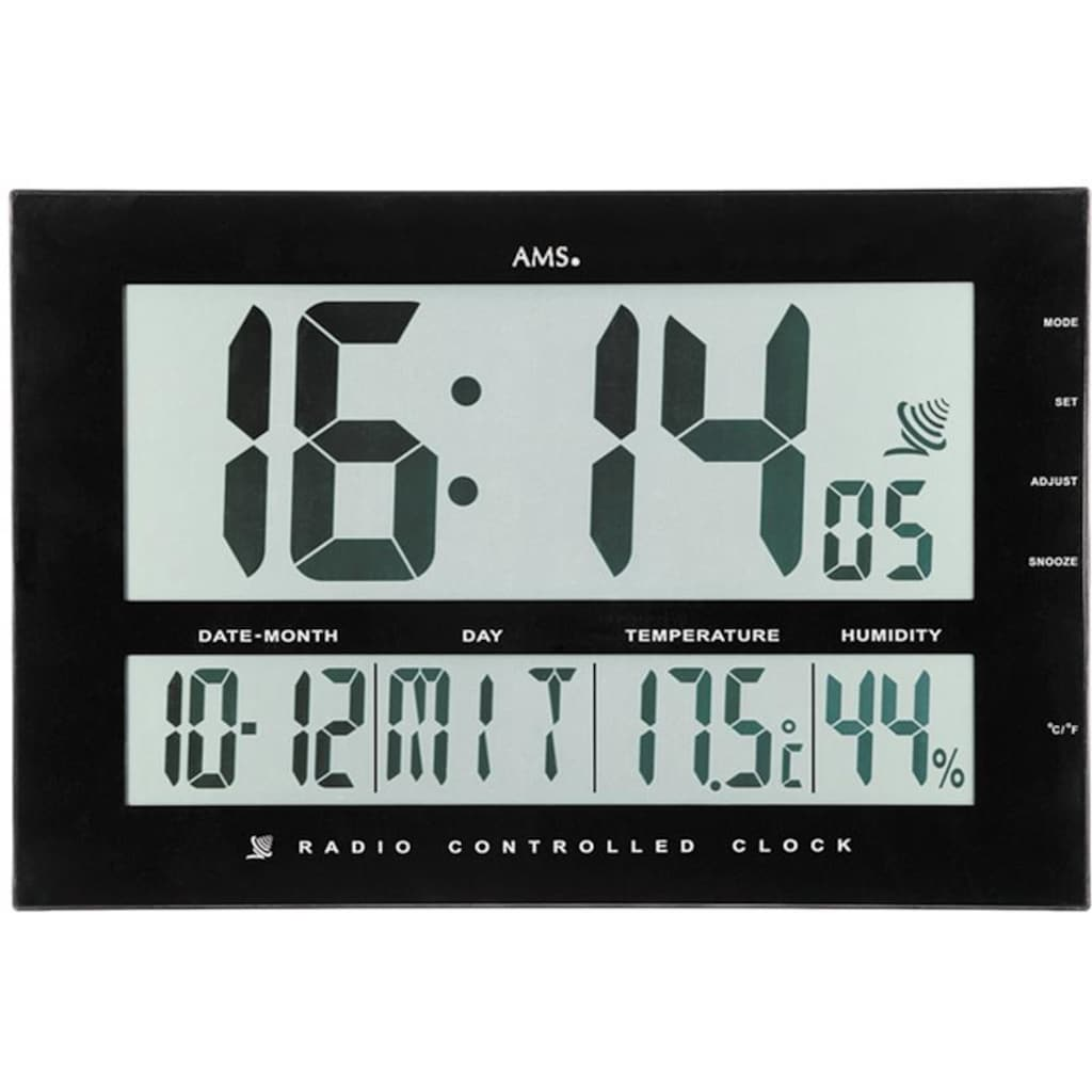 AMS Funkwanduhr »F5895«, mit Alarm