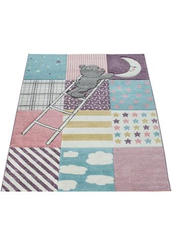 Paco Home Kinderteppich »Ela 399«, rechteckig, 17 mm Höhe, mit Konturenschnitt,... kaufen
