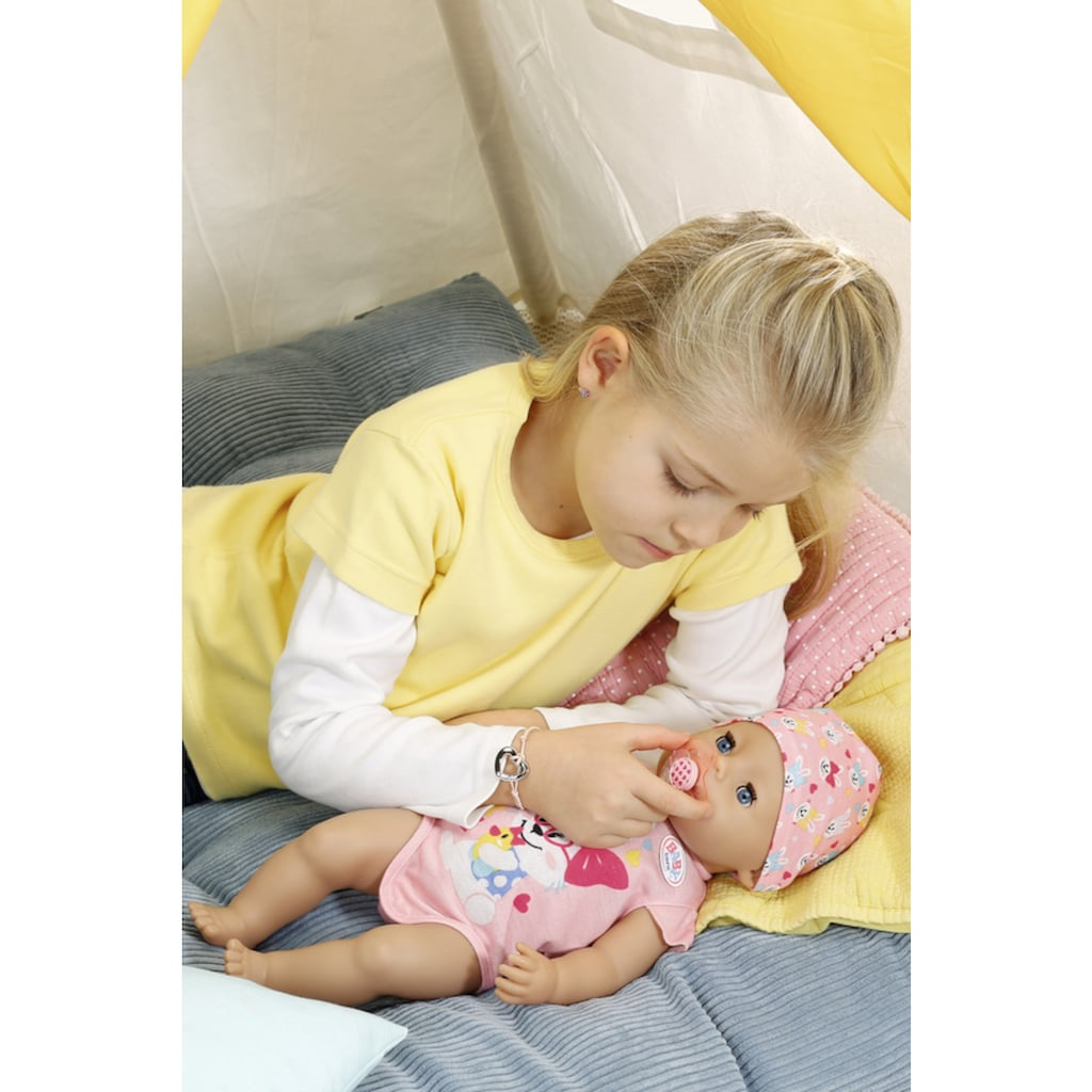 Baby Born Babypuppe »Magic Girl, 43 cm«, (Set, 13 tlg.), mit 10 lebensechten Funktionen
