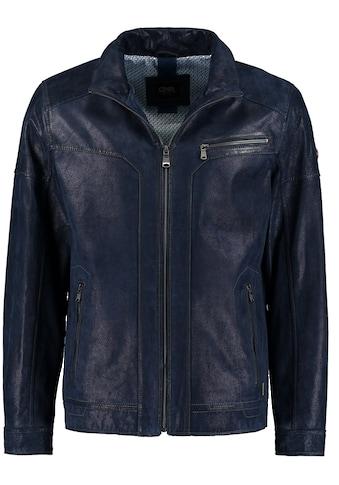 DNR Jackets Herren Lederjacke in Vintageoptik mit Reißverschluss kaufen