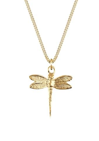 Elli Kette mit Anhänger »Libelle Panzerkette Tier Natur 925 Silber« kaufen